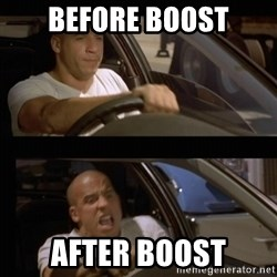 Vin Diesel Car - Before Boost After boost