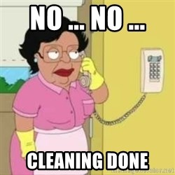 Family guy maid - No ... No ... Cleaning done