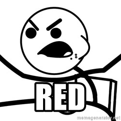 Cereal Guy Angry -  RED