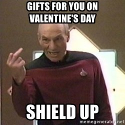 Picard Finger - Gifts for you on Valentine's day Shield up
