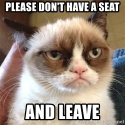 Grumpy Cat 2 - Please DON't have a seat and leave