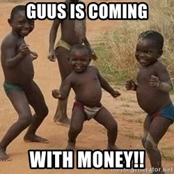 Dancing african boy - Guus is coming With money!!