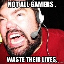 Angry Gamer - Not all gamers . Waste their lives.
