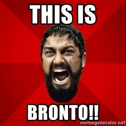 THIS IS SPARTAAA!!11!1 - this is bronto!!
