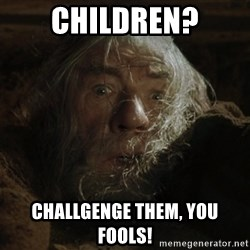 gandalf run you fools closeup - Children? Challgenge them, you fools!