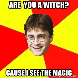 cheeky harry potter - ARE  you a witch? Cause I see the magic