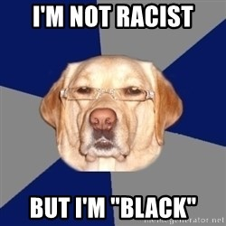 "Racist Dawg - i'm not racist but i'm ""black"""