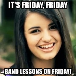 Rebecca Black Fried Egg - It's friday, friday band lessons on friday!