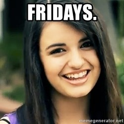 Rebecca Black Fried Egg - Fridays.