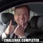 Barney Stinson -  Challenge completed