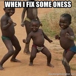 Dancing african boy - When i fix some oness