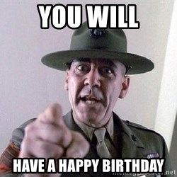 Military logic - You wIll Have a Happy Birthday