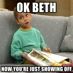 Olivia Cosby Show - Ok Beth Now you're just showing off