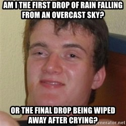 Stoner Guy - Am I the first drop of rain falling from an overcast sky? OR THE FINAL DROP BEING WIPED AWAY AFTER CRYING?