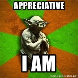 Yoda Advice  - Appreciative I am