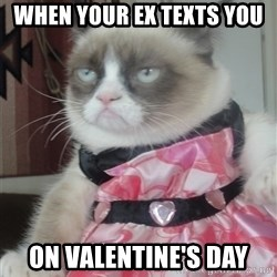 Valentines Day Tard - When your ex texts you  On Valentine's Day