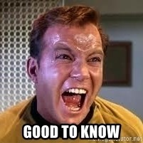 Screaming Captain Kirk -  good to know