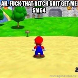 Mario looking at castle - AH, FUCK THAT BLTCH SHit get me sm64