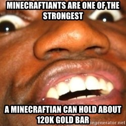 Wow Black Guy - Minecraftiants are one of the strongest A minecraftian can hold about 120k gold bar