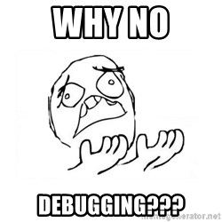 WHY SUFFERING GUY 2 - Why no debugging???