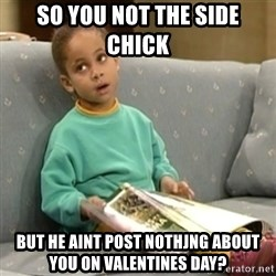 Olivia Cosby Show - So you not the sIde chick  But he aint post nothjng about you on valentines day?
