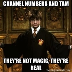 Harry Potter Come At Me Bro - Channel numbers and Tam they're not magic, they're real