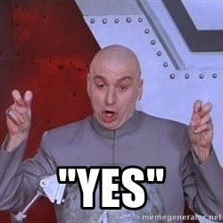 """Dr. Evil Air Quotes -  """"yes"""""""