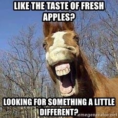 Horse - Like the taste of fresh apples? Looking for something a little different?