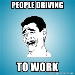 Laughing Man - People driving to work