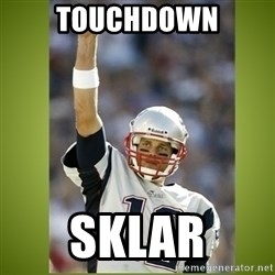 tom brady - Touchdown Sklar
