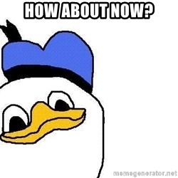 Dolan duck - HOW ABOUT NOW?