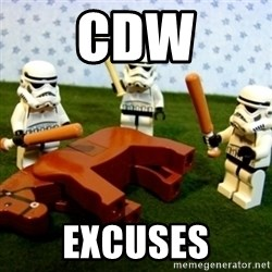 Beating a Dead Horse stormtrooper - CDW Excuses