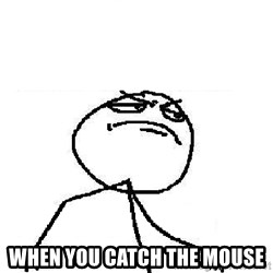 Fuck Yeah -  WHEN YOU CATCH THE MOUSE