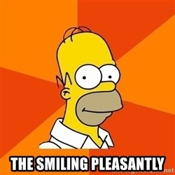 Homer Advice -  the smiling pleasantly