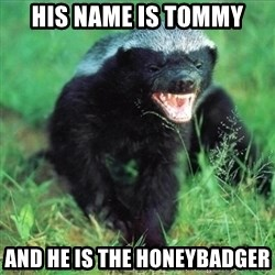 Honey Badger Actual - His name is Tommy And he is the honeybadger