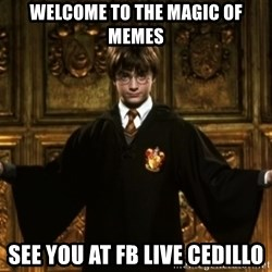 Harry Potter Come At Me Bro - Welcome to the magic of memes see you at fb live cedillo
