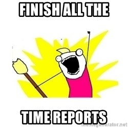 clean all the things blank template - Finish All the time reports