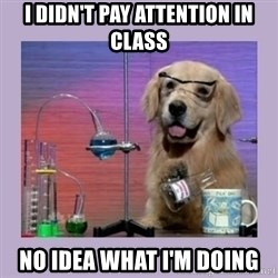 Dog Scientist - i didn't pay attention in class no idea what i'm doing