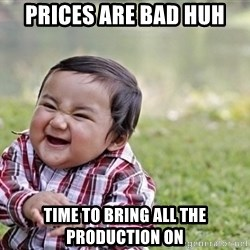 evil asian plotting baby - prices are bad huh time to bring all the Production on