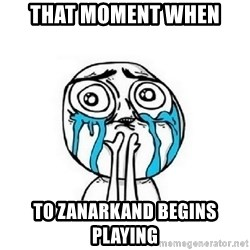 crying - That moment when To Zanarkand begins playing