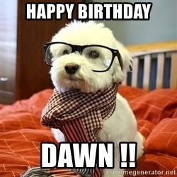 hipster dog - happy birthday dawn !!