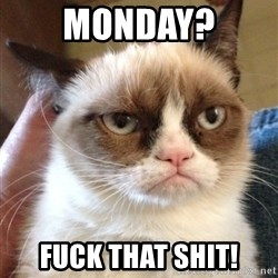 Grumpy Cat 2 - Monday? Fuck That SHIT!