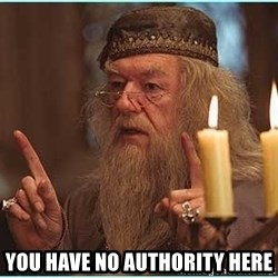 dumbledore fingers -  You have no authority here