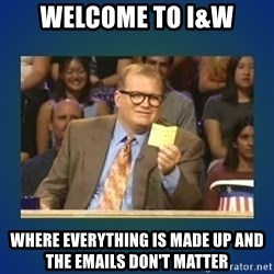 drew carey - welcome to I&W where everything is made up and the emails don't matter