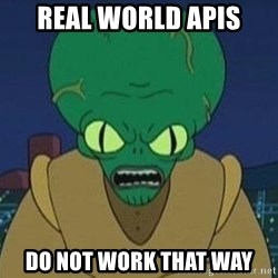 Morbo - real world apis do not work that way