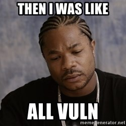 Sad Xzibit - then i was like all vuln