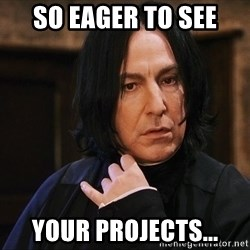 Professor Snape - so eager to see your projects...