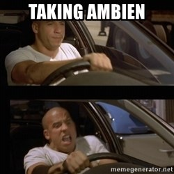 Vin Diesel Car - Taking ambien