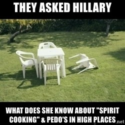 """Never Forget Earthquake - they asked hillary what does she know about """"spirit cooking"""" & pedo's in high places"""