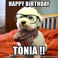 hipster dog - happy birthday tonia !!